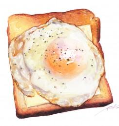 20200518目玉焼きパン