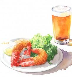 うしろむき夕食店1